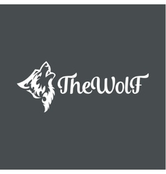 Wolf howling the moon in style of tattoos flat vector image vector image