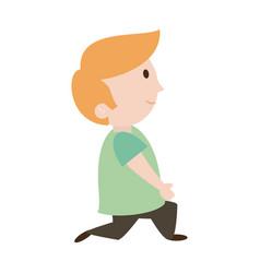 Young happy boy icon image vector