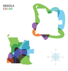 Abstract color map of Angola vector image