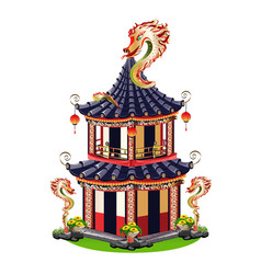 chinese house vector image vector image