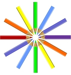 Pen set color 06 vector image vector image