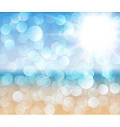 Sunny beach - abstract vector image