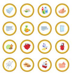 supermarket icon circle vector image