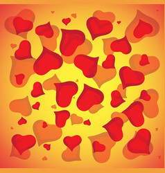 abstract love background full of hearts vector image vector image
