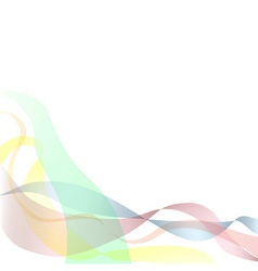 Colored ribbons background or CD cover vector image vector image