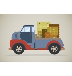 delivery truck with parcels vector image vector image
