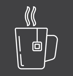 Mug of tea line icon business and breakfast vector