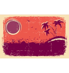 tropical backgroundAbstract grunge vector image vector image