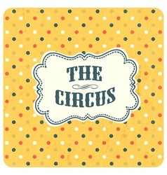 abstract circus background vector image vector image