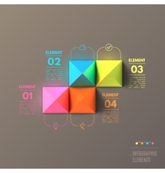 Business Infographics pyramid concept Top view 3d vector image vector image