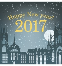 Christmas card for 2017 vector image vector image