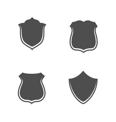 Collection of blank shields for web vector