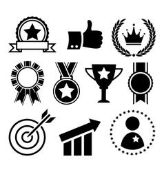 Festive Celebration Winner Success Flat Icons vector image vector image