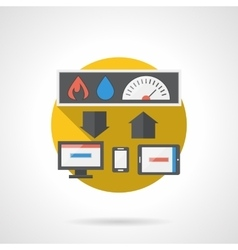 Home technology round color detailed icon vector image