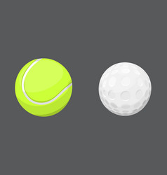 Sport balls isolated tournament win round golf vector