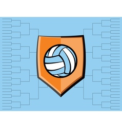 Volleyball icon bracket vector