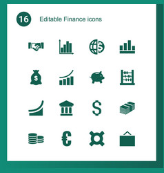 16 finance icons vector
