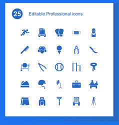 25 professional icons vector