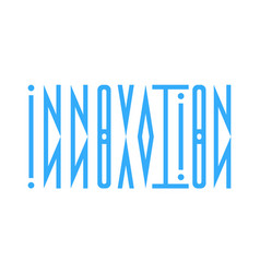 abstract logo from the word innovation in a vector image