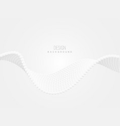 abstract white wave background science wave vector image