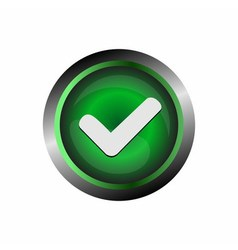 Acceptconfirm icon button vector