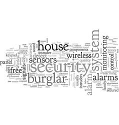 Alarm burglar free wireless vector