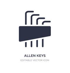 Allen keys icon on white background simple vector