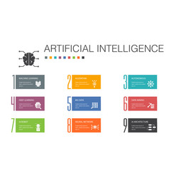 artificial intelligence infographic 10 option line vector image