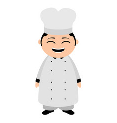 asian chef cartoon character vector image