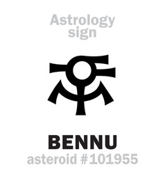 astrology asteroid bennu vector image