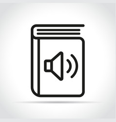 Audio book icon design vector