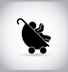 Baby in a carriage vector