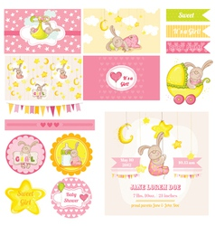 Bashower bunny theme vector