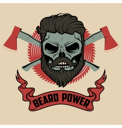 beard power vector image
