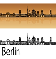 Berlin V2 skyline orange vector image