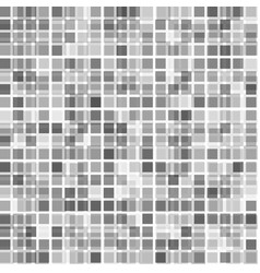 black and white halftone mosaic square background vector image