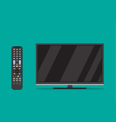 black television screen vector image