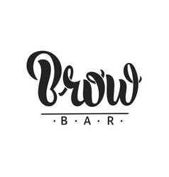 Brow bar text for logo vector