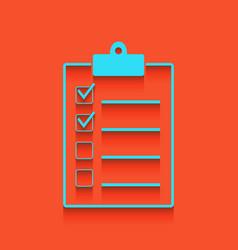 Checklist sign whitish icon vector