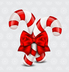 Christmas Candy Cane on a holiday background vector