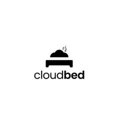 Cloud bed logo design concept vector