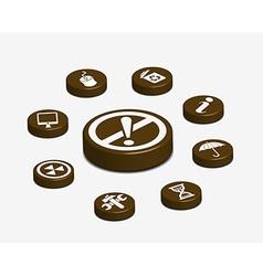 Coffee web button vector