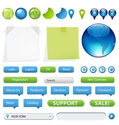 Collection Of Website And GPS Navigation Elements vector image
