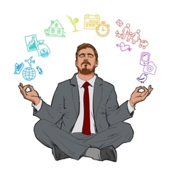 Concept of relax and work balance vector image