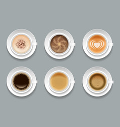 creative art coffee set vector image