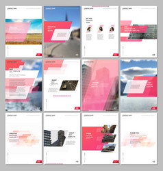Creative brochure templates with colorful gradient vector