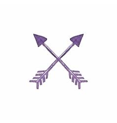 Crossed arrows Native american indian arrow vector