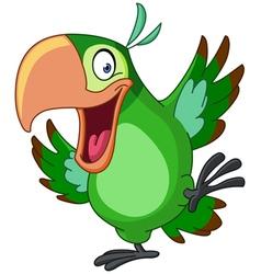 dancing parrot vector image