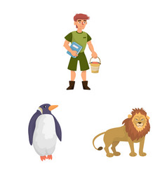 Design zoo and park logo set zoo and vector