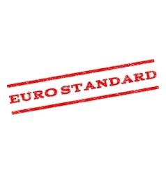 Euro Standard Watermark Stamp vector image